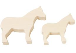 HABA Terra Kids Schnitzrohlinge Pferde