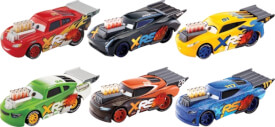 Mattel GFV33 Disney Cars Xtreme Racing Serie Dragster-Rennen Die-Cast 1:55 Sortiment