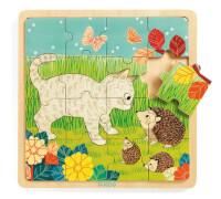Holz Puzzle: Puzzle Garten