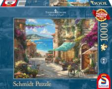 Schmidt Spiele Puzzle Thomas Kinkade Café an der italienischen Riviera 1.000 Teile