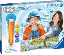 Ravensburger 008056 tiptoi® CREATE Starter-Set: Stift und Weltreise-Buch