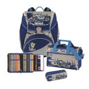 Scout Alpha Set 4 tlg. Big Foot Polizei, Schulranzen Set