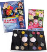 Eulenspiegel 212011 12 Farben-Profi-Schmink-Palette