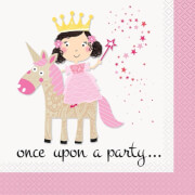 Princess & Unicorn Servietten 33x33cm 16 Stück