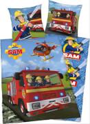 Feuerwehrmann Sam Bettwäsche, 135 x 200 cm / 80 x 80 cm