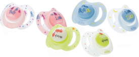 N#by Little Moments Beruhigungssauger, 2er Pack, flach-oval, Silikon, Gr. 0-6 Monate