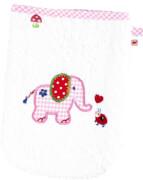 Waschhandschuh BabyGlück, rosa (Elefant)